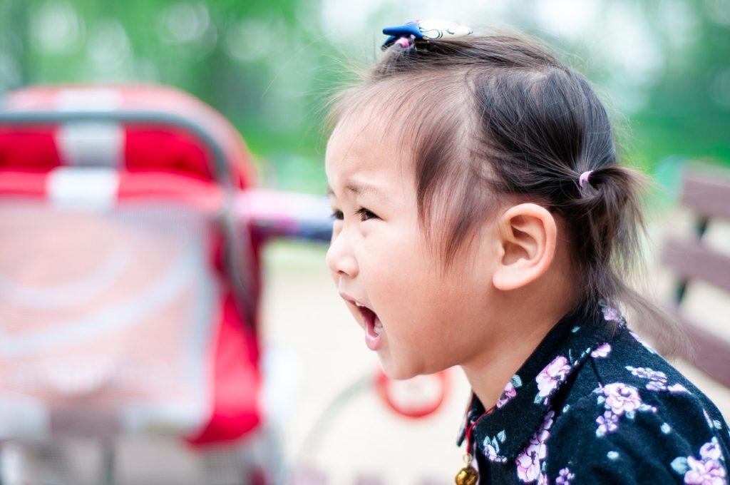 toddler having tantrums