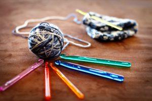 Crochet yarn and hooks