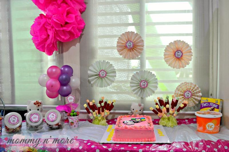 Hello Kitty Inspired birthday dessert table