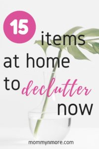 decluttering at home