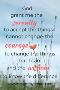 Serenity prayer for calm