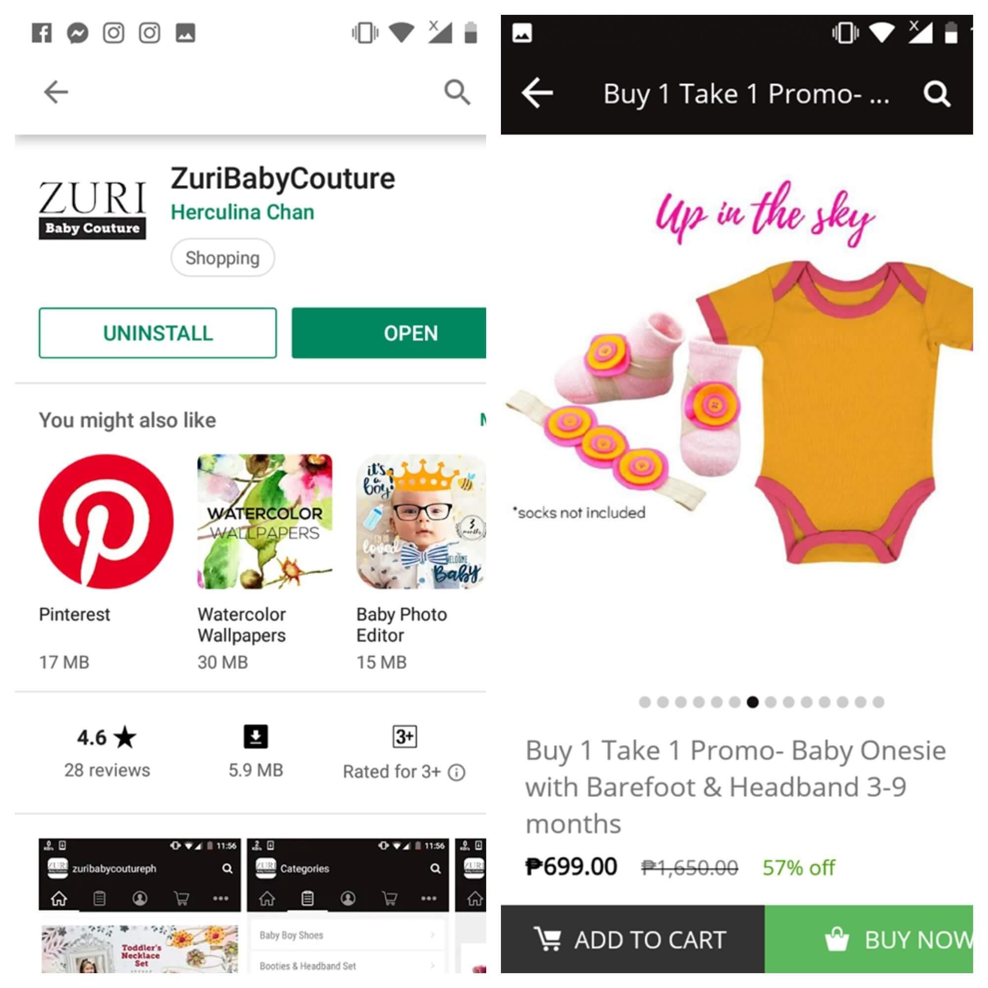 Zuri Baby Couture App