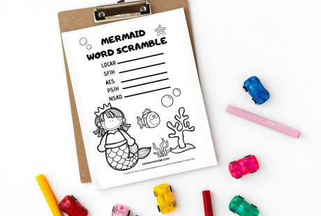 Mermaid Activity Sheets