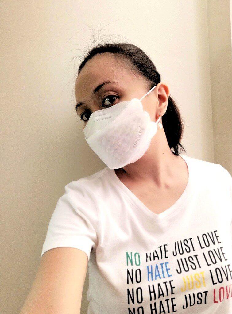 Wearing AirQueen Nano Mask